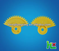 Yellow bevel gear with clutch tooth