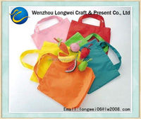 cute fruit foldable polyester shopping bag/recycled polyester bag