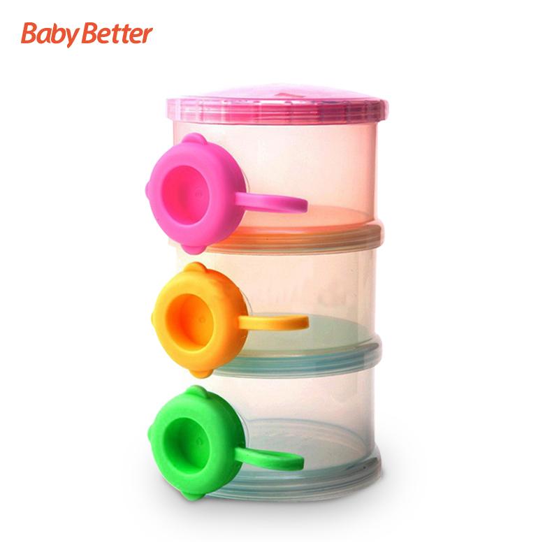 Envase de leche en polvo del beb/é envase de almacenamiento port/átil de la comida del dispensador del polvo de la f/órmula