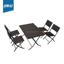 On-time delivery factory directly garden round dining wicker used patio furniture