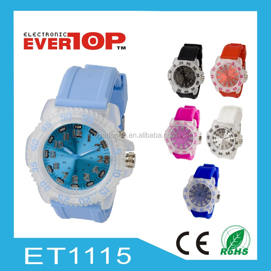 2014 NEW FLASHING SILICON LED WATCH ET1115