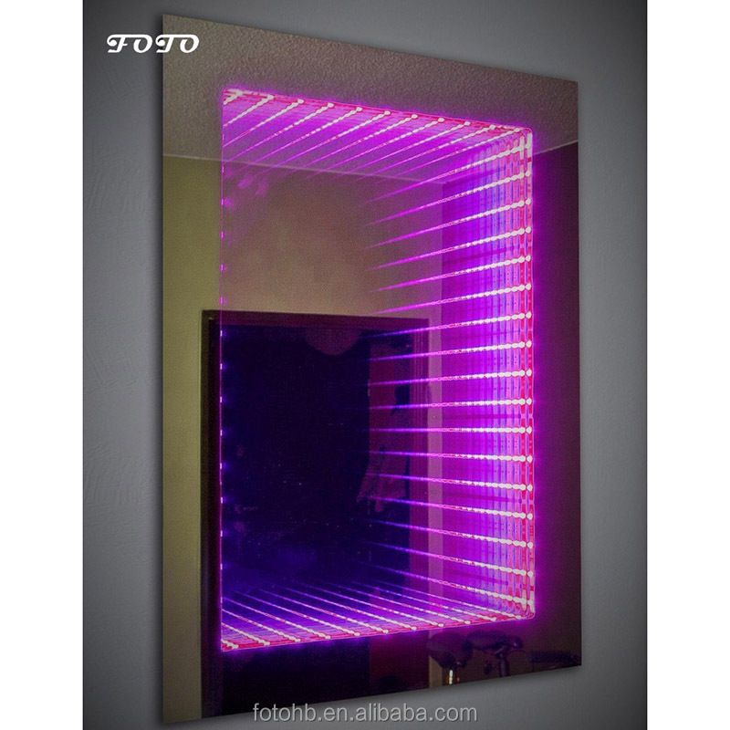 FOTO Rectangle LED Framed Infinity Mirror