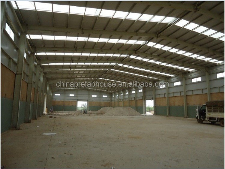 Good space utilization steel structure prefabricated warehouse