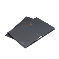 Company logo custom printed special paper document folder