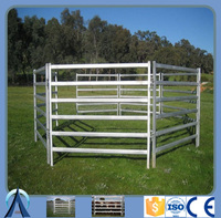 Oval tube 6 bars portable cattle yard panel fence/ cattle panel wholesaler/ used livestock panels