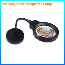 DH-88002 Laboratory Bench Flexible Magnifying Glass Lamp Price, Table Stand Led Magnifier Lens For Elderly