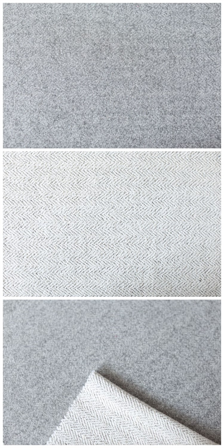 Garment Cotton Polyester Blend Coarse Knitting Fabric Plain Weft Fabric