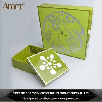 Wholesale Clean Custom Logo Acrylic Gift Box Packaging