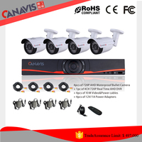 1.3 Megapixel High Resolution Outdoor/Indoor cctv Surveillance system 960H AHD 4ch DVR Dome DVR kit