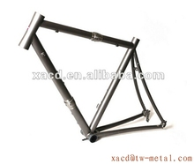 New design titanium road bike frame with coupler customize light weight road racing bicycle frame 700c titanium road frame