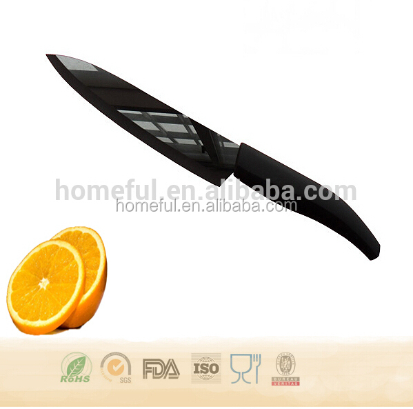Super Sharp mirror ceramic knife black blade