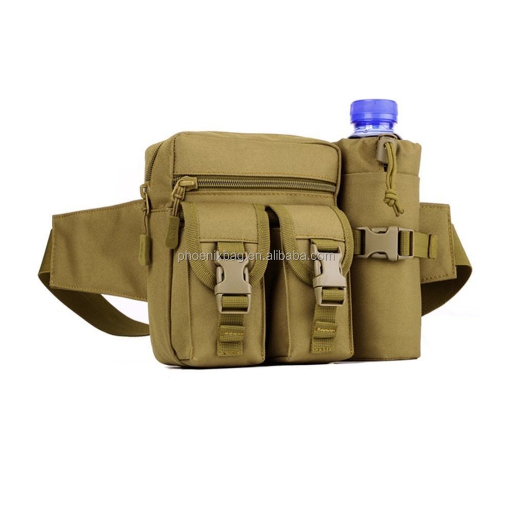 Waist Pack with Water Bottle Bag Waist Bag Military Water-Resistant Lightweight Tactical Gear Outdoor Hiking Bag