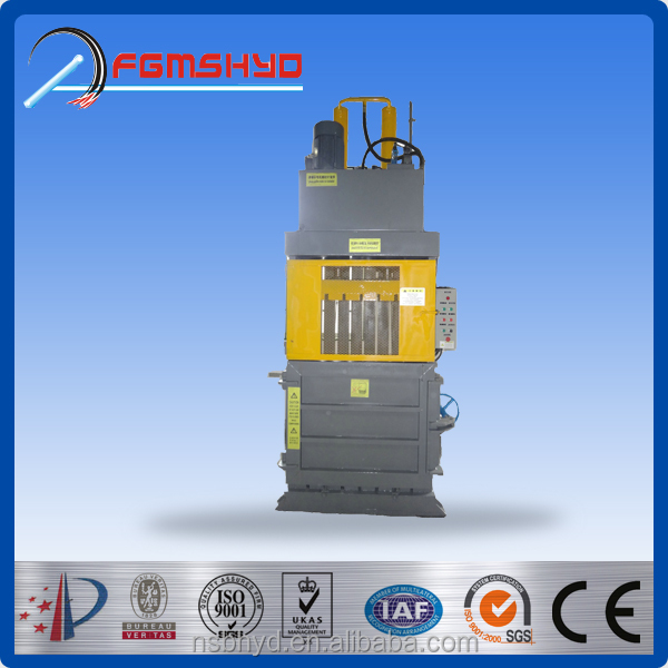 Vertical Plastic film Baler for waste paper/Hydraulic vertical textile baler