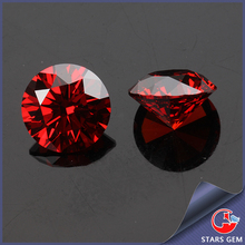 wholesale garnet color round cubic zirconia for sterling silver jewelry