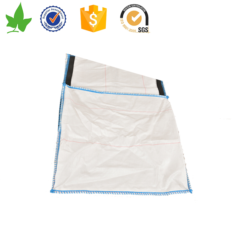 Large woven plastic bags with square bottom