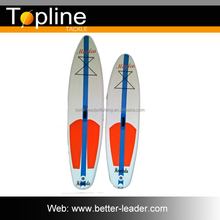 Brushed Carbon Sup Stand Up Paddle Board with 2 small fixed skegs
