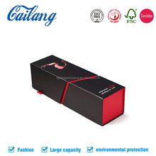 2017 new design luxury folding cardboard wine box christmas wine box from china