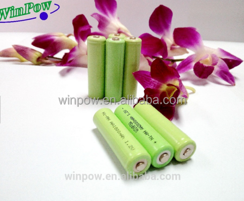 Hot sale , ni mh aa 500mah 1.2v rechargeable battery with factory price