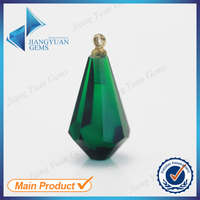 Beacutiful Emerald Green Glass Stones Glass Gems for Pendant