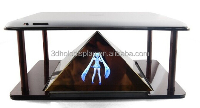 Universal DIY 3D Holographic Projection Pyramid,Hologram Pyramid Smartphone