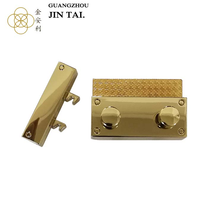 K2823 Alibaba Guangzhou antique metal custom gold color Lock for handbag