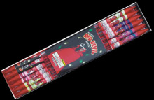 W111-4 4 OZ red devil rocket fireworks manufacturer