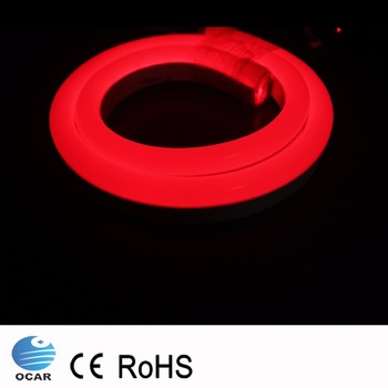 220v RGB led neon flex rope light, led neon flexible strip
