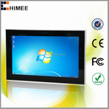 HQ32EW-C1-T Wall mounted 32 inch led touch screen gaming full hd video computer pc for mobile phones shop