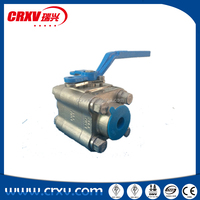 Oil and Gas media high pressure stainless steel 316 material ball valve