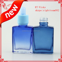e cigarette liquid smoke oil 15ml 30ml gradient colored glass bottle with childproof tamper evident cap