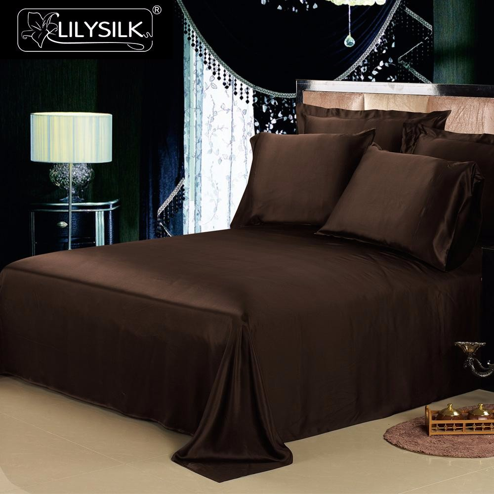 1000-chocolate-19-momme-seamless-silk-flat-sheets