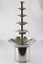 electric commercial hot chocolate fountain machine
