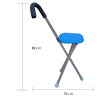 Folding Seat Cane / walking stick with seat / walking stick with chair