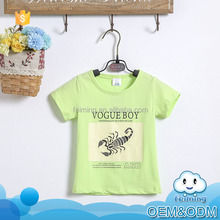 Wholesale baby clothes 2016 summer short sleeve soft cotton good quality animal custom printed t-shirt kids models for 2-7 years