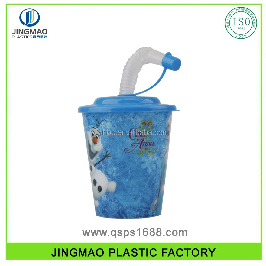 Hot Sale Plastic Drinking Straw Cup with Printing
