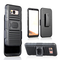 2 in 1 kickstnad mobile ring shell holster case for Samsung S8 clip case