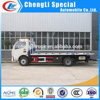 Dongfeng 4x2 Platform Wrecker 6 Wheel Dongfeng Heavy Duty Wrecker Dongfeng rotator towing truck