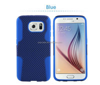 Hybrid Hard Mesh Net Sillicone Combo Dual Layer Case for galaxy s6