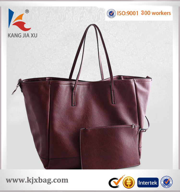 BA-1351 hot selling Women knit hand bag single shoulder bags pu leather weave bags manufacture