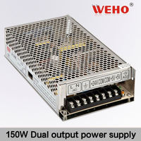 High quality~ 150W Dual output led driver 24v 3a dc power supply