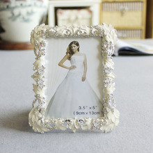 Lovely Rhinestone Rectangle Bridal Wedding Photo Picture Frame Made in China