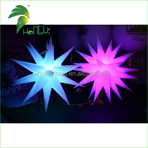 Costume Inflatable Decoration Hanging led Light Inflatable Star for Christmas