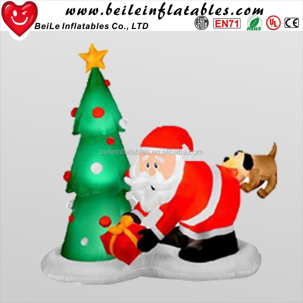 Newest wholesale inflatable <strong>christmas</strong> man and inflatable <strong>christmas</strong> tree with dog