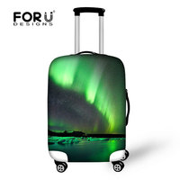 Neoprene Luggage Cover,protect luggage case, Northern Lights print luggage cover