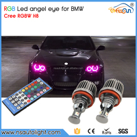 Newsun 2015 New arrival H8 20W RGB LED angel eyes colors bulb for BMW with remote control