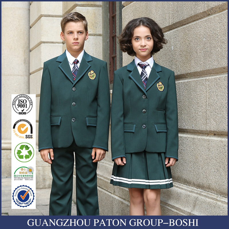 European Style Winter Green School Uniform School Skirt
