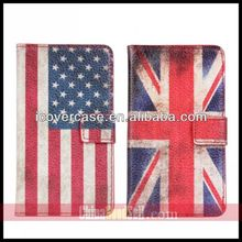 UK USA National flag wallet leather Cellphone Case Galaxy S2 i9100