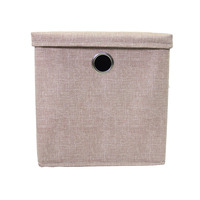 Popular Cotton Fabric Foldable Storage Cube Footrest
