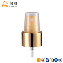 competitive price for 18mm cosmetic water and perfume fine mist sprayer colored gold with cap