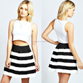 2014 Striped Mini Skirt For Woman